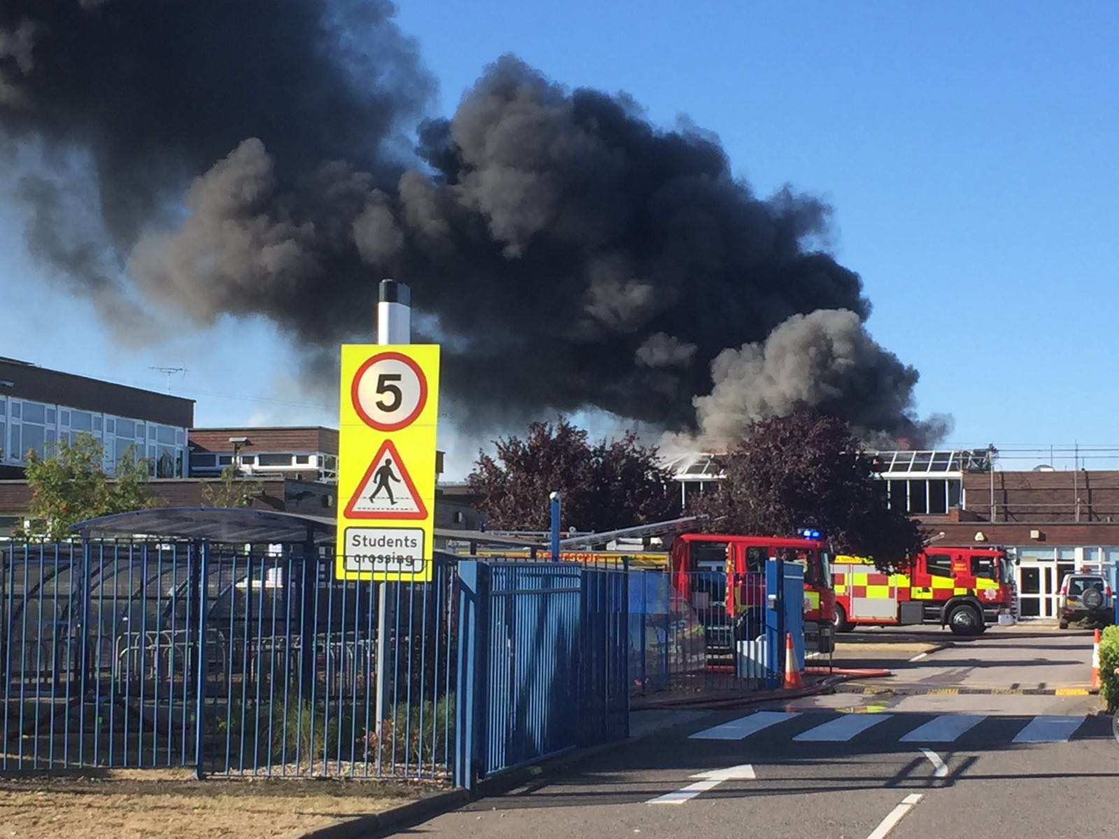 Essex secondary school hit by fire