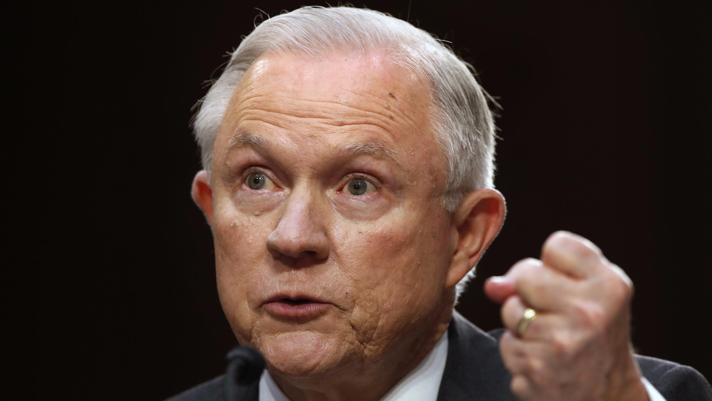 US Attorney General Jeff Sessions calls allegations of collusion with Russia appalling
